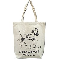DOUBLE NAME×Disney ミッキーキャンバストートバッグ MICKEY ディズニー STEAMBOAT WILLIE