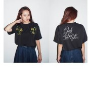 rose embroidery TOPS【ムルーア/MURUA Tシャツ・カットソー】