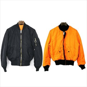 ALYX アリクス ×ALPHA INDUSTRIES/16AW『NATURAL ORDER』MA-1 BOMBER JACKET ヴィンテージ加工MA-1フライトジャケット ブラック×オレンジ S...
