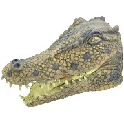 Bristol Novelty Crocodile. Rubber Masks Mens One Size - Brown