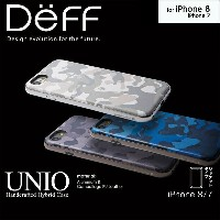 iPhone 7 用 HYBRID Case UNIO Soft Leather Camouflage for iPhone 7【送料無料】iPhone iPhone7 iPhoneケース Deff...