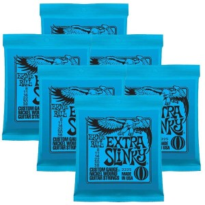 ERNIE BALL Nickel Wound Guitar Strings×6セット (#2225 EXTRA SLINKY)