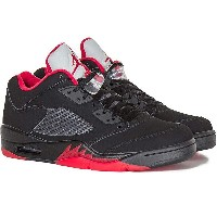 NIKE ナイキ Air Jordan 5 Retro Low ALTERNATE エアジョーダン5 レトロ ロー メンズ スニーカー Black/Gym Red-Metallic Hematite...
