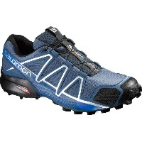 サロモン Salomon メンズ ランニング シューズ・靴【Speedcross 4 Trail Running Shoe】Slateblue/Black/Blue Yonder