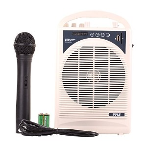 Pyle PWMA120BM - Portable PA スピーカー and Wireless Mic - Sing Karaoke オーバー Songs ストアー in USB and SD...