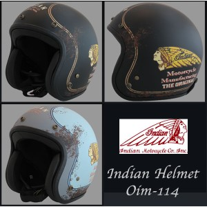 INDIAN インディアン ヘルメット OIM-114 RUSTS ジェットヘルメット バイク
