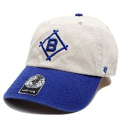 【BCPTN-RGWTT12GWSRB-NTY12】≪DODGERS COOPERSTOWN'47BRAND CLEAN UP NATURAL≫ フォーティーセブン FORTY SEVEN...