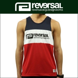 リバーサル REVERSAL 正規販売店 メンズ タンクトップ SWITCH COLOR MESH JERSEY TANK TOP rv17ss018c TRICOLORE