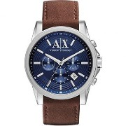 アルマーニエクスチェンジ A|X Armani Exchange Men's Chronograph Brown Leather Strap Watch AX2501 男性 メンズ 腕時計 ...