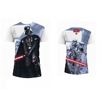 SD toys - T-Shirt Star Wars - Homme Darth Vader & Stormtrooper Full Print Taille M - 8436546898092