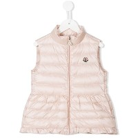 Moncler Kids - ジップアップ ダウンベスト - kids - ポリアミド/フェザー/Goose Down/polyimide-1 - 4歳