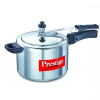 Prestige PRNPC3 Small Nakshatra Plus Flat Base Aluminum Pressure Cooker for Gas and Induction Stove...