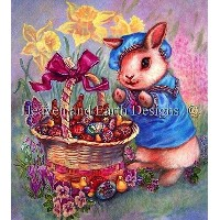 【DM便対応】Heaven And Earth Designs(HAED)クロスステッチ Easter Basket チャート Judy Mastrangelo 刺しゅう 図案 アメリカ 春...
