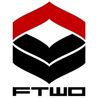 16-17 FTWO CUT-IN STICKER LOGO 小 01-RED×BLACK カットイン ステッカー ロゴ