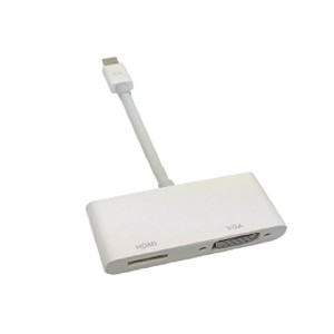 Mini Displayport M to VGA&HDMI F 変換アダプタ 2in1