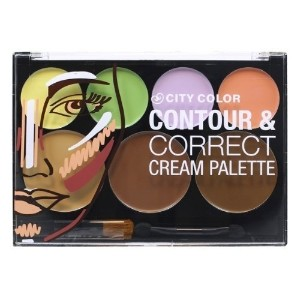CITY COLOR Contour & Correct Cream Palette All In One (並行輸入品)