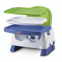 Fisher-Price Healthy Care Deluxe Booster Seat, Blue/Green/Gray by Fisher-Price