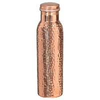 Hammered Pure Copper Stylish Q7 Bottle Joint Free with Ayurvedic benefited 100% pure & Leak Proof...