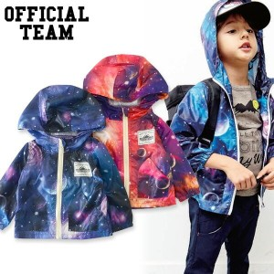 【30%OFF】OFFICIAL TEAM SPACE PRINT WIND BREAKER■OT-17SS-1001【キッズ&ベビー トップス ウィンドブレーカー ナイロンジャンパー ブルゾン...