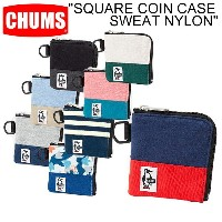 "【CHUMS】チャムス CH60-0693""SQUARE COIN CASE SWEAT NYLON""スクエア コインケース スウェット ナイロン 小銭入れ カード収納 財布 ギフト プレゼント..."