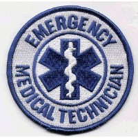 "The EMT PATCH, by: ""Flag-It"" The Most Trusted Brand, Superior Quality Iron-On / Saw-On Embroidered..."