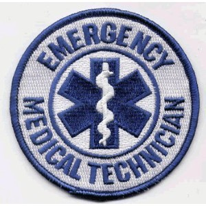 """The EMT PATCH, by: """"Flag-It"""" The Most Trusted Brand, Superior Quality Iron-On / Saw-On Embroidered..."""