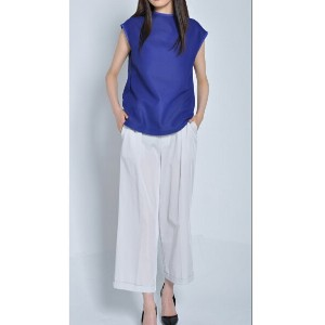 FLUMOR Two-Tuck Wide Cropped Pants アビィ【送料無料】