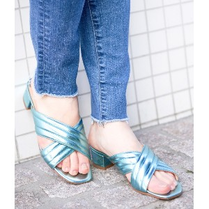 【FABIO RUSCONI】Metalic Sandals