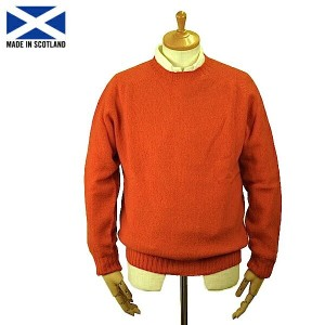 Harley of Scotland 【ハーレー・オブ・スコットランド】M2474/7 Men's Saddle Shoulder Crew Neck Sweater Spice サドル ショルダー...