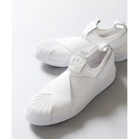 《予約》【adidas】Superstar Slip On W mesh【アイボリー コート/ivory court スニーカー】
