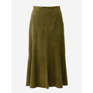 beautiful people ビューティフルピープル 17S/S goat sweet suede trapeze mermaid skirt ARMY GREEN