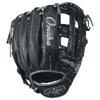 ルイスビルスラッガー メンズ 野球 グローブ 手袋【Louisville Slugger Omaha Dual Post Web Fielding Glove】Black/Silver