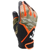 アンダーアーマー メンズ 野球 グローブ 手袋【Under Armour Clean-up Culture Batting Gloves】Black/Orange/Camo