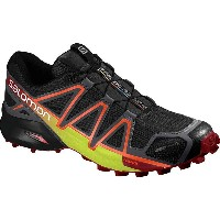 サロモン Salomon メンズ ランニング シューズ・靴【Speedcross 4 CS Trail Running Shoe】Black/Magnet/Red Dalhia