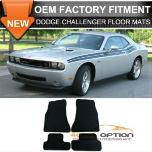 Dodge Charger フロアマット Limited Time Sale 10-12 Dodge Challenger Floor Mats Carpet Front Rear Nylon...