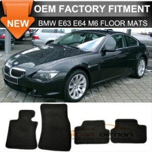 BMW 650Ci フロアマット Limited Time Sale 07-10 E63 E64 M6 6-Series Floor Mats Carpet Front & Rear Nylon...