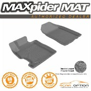 Honda Civic フロアマット 3D Maxpider 06-11 Honda Civic Coupe Sedan L4 2Pcs Gray Classic Floor Mat R1 Row...
