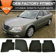 Hyundai Sonata フロアマット For 10-12 Hyundai Sonata 4Dr Floor Mats Carpet Front & Rear Nylon Black 4PC...