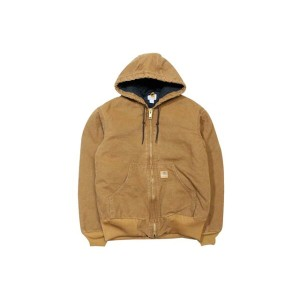 Carhartt SANDSTONE ACTIVE JACKET/QUILTED FLANNEL LINED (J130: CARHARTT BROWN)カーハート/フードダックジャケット/茶色