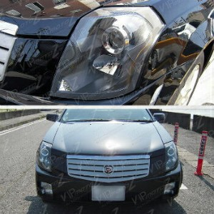 クライスラー キャデラック ヘッドライト 2003-2007 Cadillac CTS Base Sport Luxury Black Factory Style Headlights...
