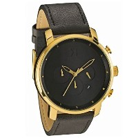 MVMT Watchesメンズ腕時計CHRONO GOLD/BLACK LEATHER