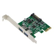 SEDNA – PCI Express 2ポートUSB 3.0アダプタ – with低プロファイルブラケット – ( NEC / Renesas upd720202チップセット) –...
