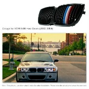 BMW グリル Pair Front Center Kidney Hood Grilles Matt Black Mixed Color for BMW E46 43AQ BMW E46...