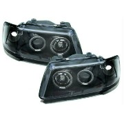 アウディ ヘッドライト Black clear finish projector headlights with angel eyes for Audi A3 8L 96-00 アウディA3 8L...