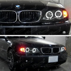 BMW ヘッドライト 2002-2005 BMW E46 4DR Sedan Black Halo Projector Headlight Corner Lamp 2003 2004 2002...