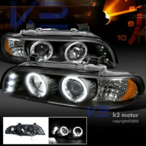 BMW ヘッドライト 2001-2003 BMW E39 525I 530I M5 LED Halo Projector Headlights Black 2001-2003 BMW E39...