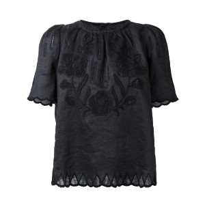 Isabel Marant - floral embroidered top - women - ラミー/ポリエステル - 34