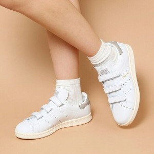 adidas Originals STAN SMITH CF(アディダス スタン スミス CF)(Running White/Clear Granite/Chalk White)【グレージュ】...