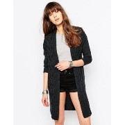 Only Cable Knit Longline Cardigan