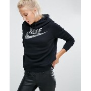 【送料無料】ナイキ Nike Pullover Hoodie In Black With Large Metallic Futura Logo